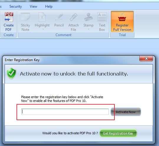 pdf pro registration key